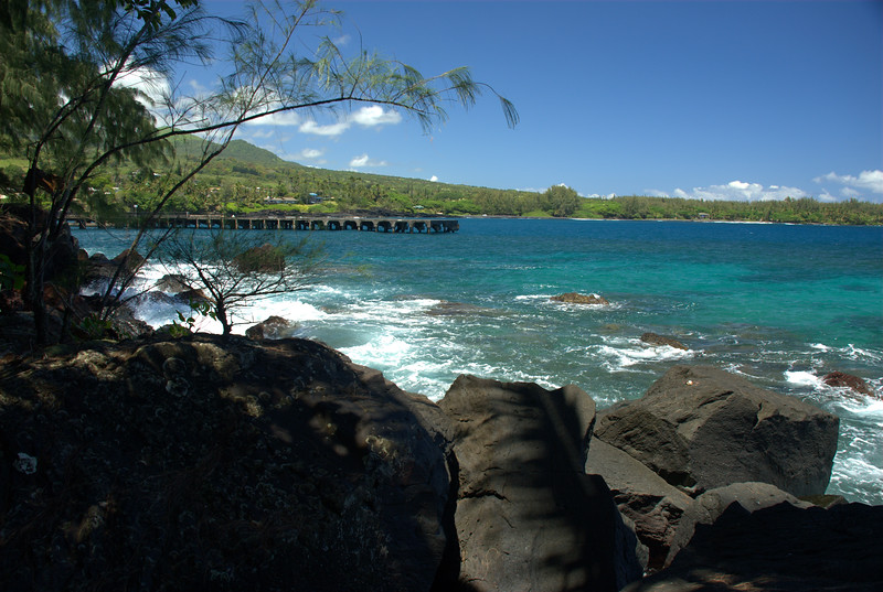 Hana Bay pier from Lehoula