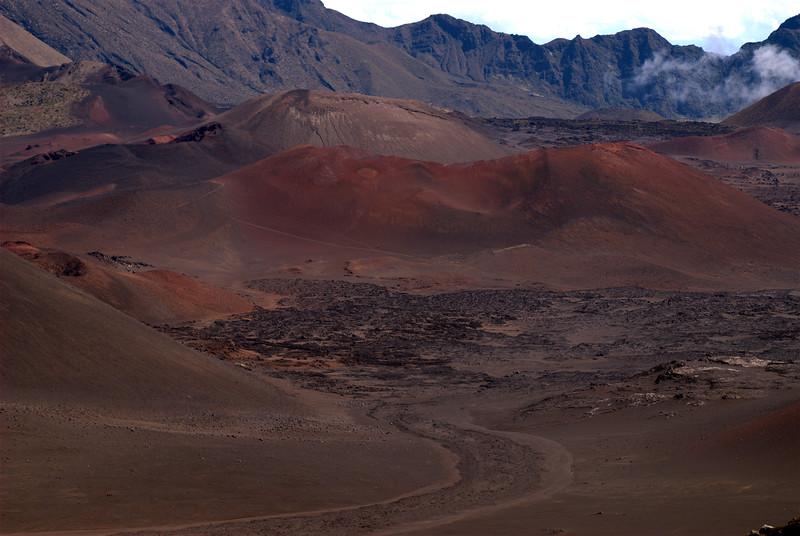Haleakala - Pu'us (craters) along the floor of Haleakala Crater