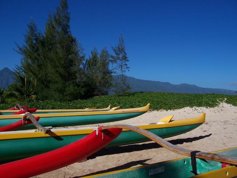 Kanaha canoes