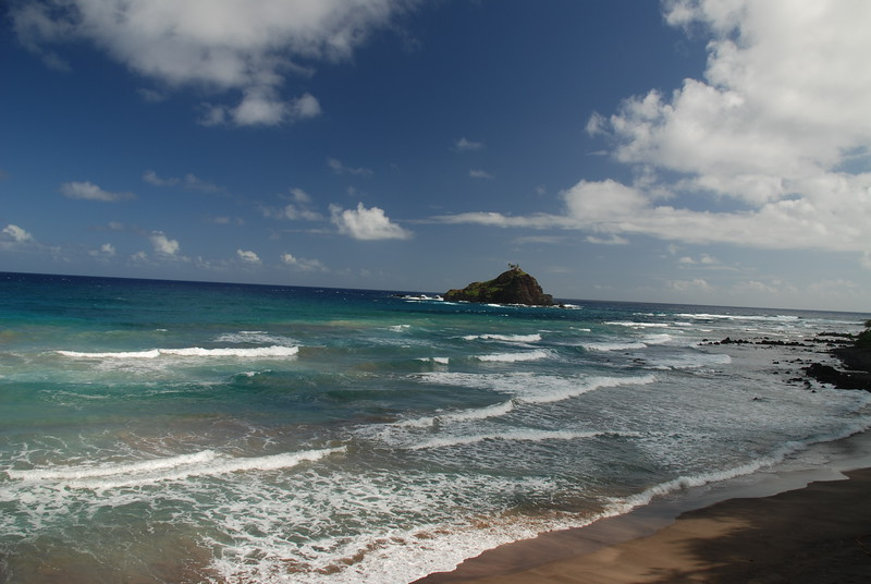 Alau island with beach