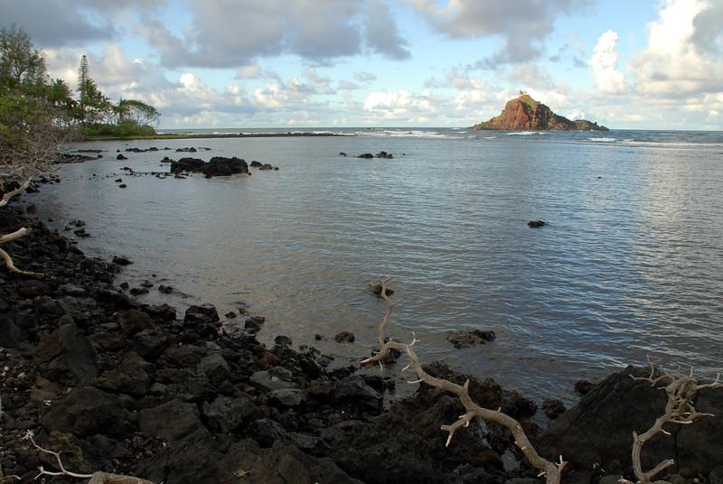 Alau island with fishpond