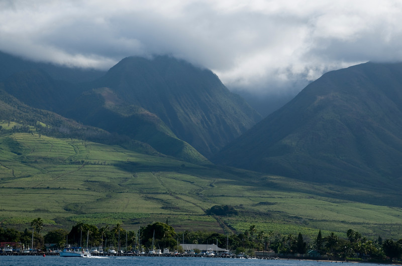 West Maui Mountains with Fallow fields