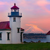 Point Robinson Lighthouse With Mt Rainier - Vashon Island