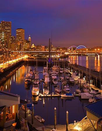 The Stunning Seattle Waterfront At Night - Seattle, WA