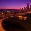 The Twilight Hour Over Seattle - Jose Rizal Park, Seattle, WA