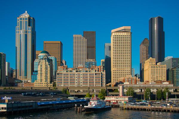 The Tall Buildings Of Seattle - Seattle Waterfront - Seattle, WA