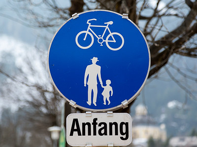 Anfang - Start Of Bicycle Lane