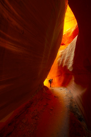 Standing In The Light -Peek-A-Boo Slot Canyon, Grand Staircase-Escalante National Monument, Utah