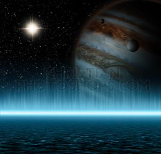Jupiter and ocean