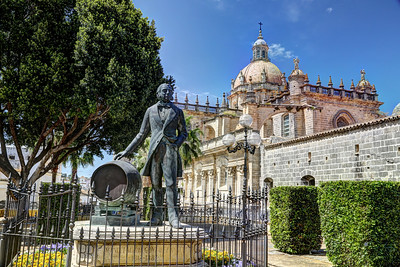 Monument to Manuel Maria Gonzalez Angel, Jerez Spain