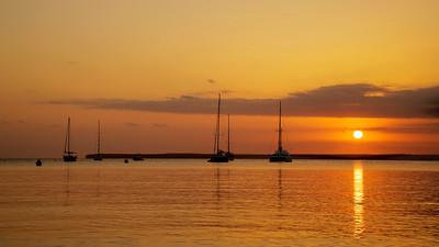 Sailing Boats At Sunset