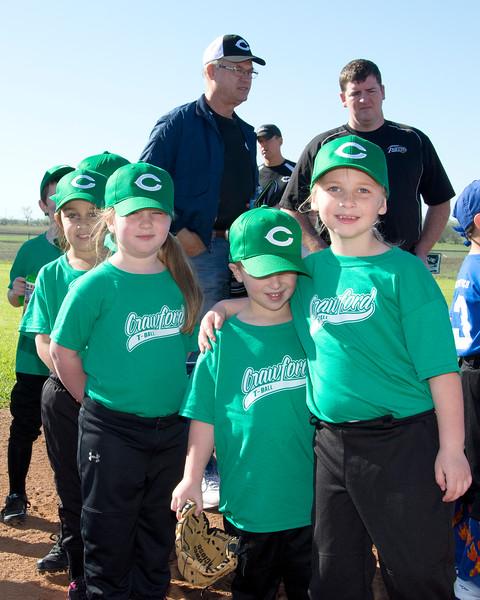 Germania Insurance (The Green Machine) Tee-ball Opening Day 3-28-2015
