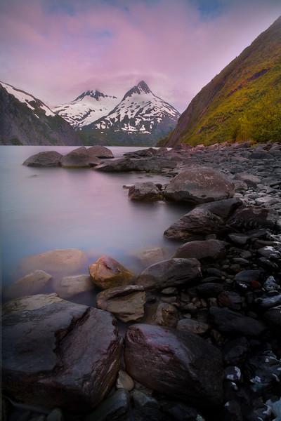 Porteau Glacier Sunset - Denali National Park, Alaska
