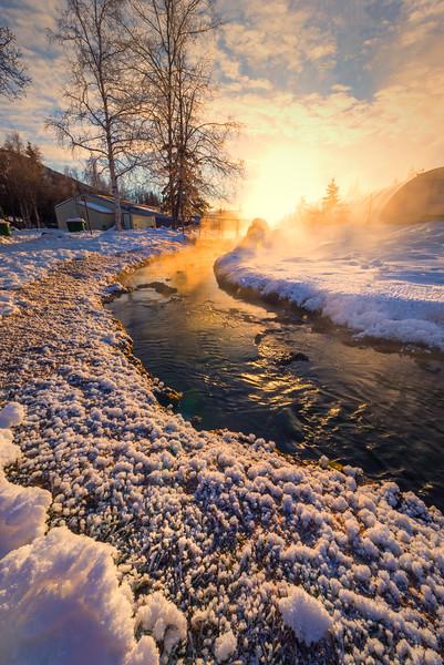 Frosty Morning Tidebits -Chena Hot Springs Resort, Outside Fairbanks, Alaska