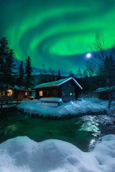 Cabin At The U Turn In The River -Chena Hot Springs Resort, Outside Fairbanks, Alaska