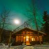 Under The Moon And Lights -Chena Hot Springs Resort, Outside Fairbanks, Alaska