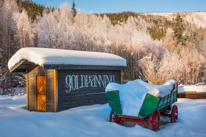 A Gold Panning Winter Town -Chena Hot Springs Resort, Fairbanks, Alaska