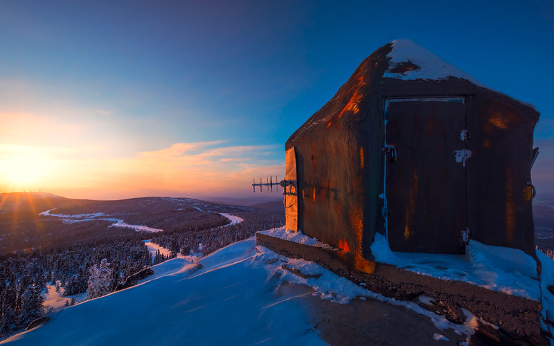 Sub Station On Overlooking Valley -Fairbanks, Mt Aurora Skiland, Alaska