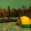 Tent Under Lights -Chena Hot Springs Resort, Outside Fairbanks, Alaska