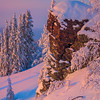 Fresh Snow Cliffside -Fairbanks, Mt Aurora Skiland, Alaska