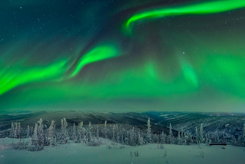 Overlooking Valley -Fairbanks, Mt Aurora Skiland, Alaska