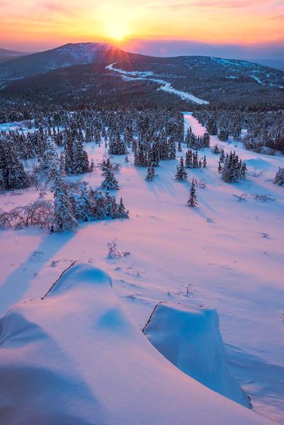 Looking Over The Edge -Fairbanks, Mt Aurora Skiland, Alaska