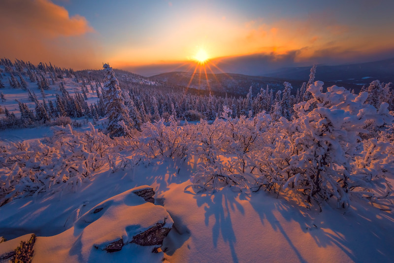 Sunset From The Top Of Ester -Ester Dome, Fairbanks, Alaska