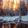 Fire Pond Reflections -Chena Hot Springs Resort, Fairbanks, Alaska