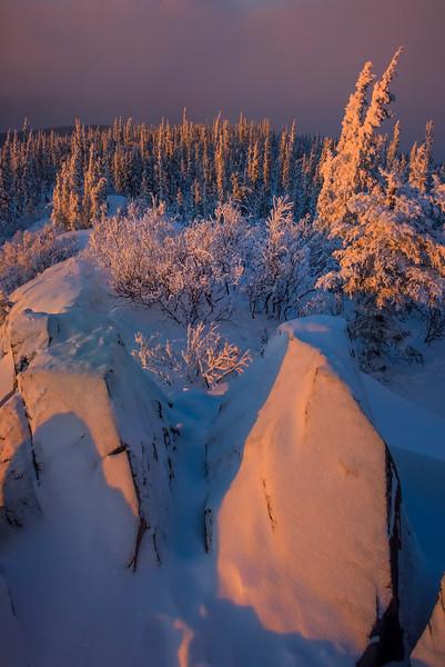 Between Rock And Snow Place -Ester Dome, Fairbanks, Alaska