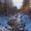 Sun Rays Coming Through -Chena Hot Springs Resort, Fairbanks, Alaska