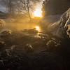 From In The River As The Sun Rises -Chena Hot Springs Resort, Outside Fairbanks, Alaska