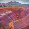 Passageway Through The Painted Hills Painted Desert, Surroundings Of Grand Canyon National Park, AZ