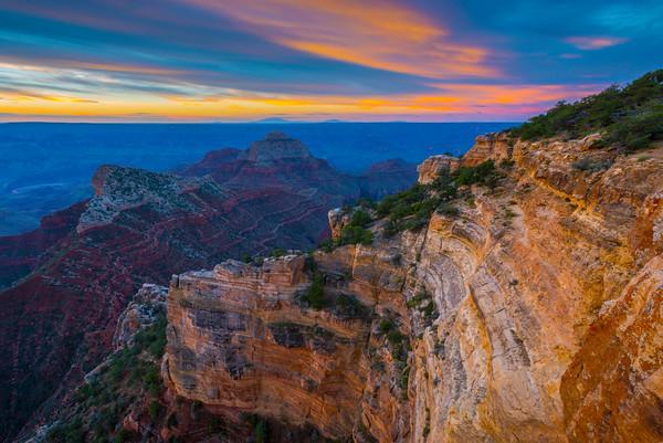 Morning Sunrise From The North Rim - North Rim, Grand Canyon National Park, AZ
