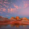 Twilight Pinks Over White Pockets White Pockets, Vermillion Cliffs, AZ