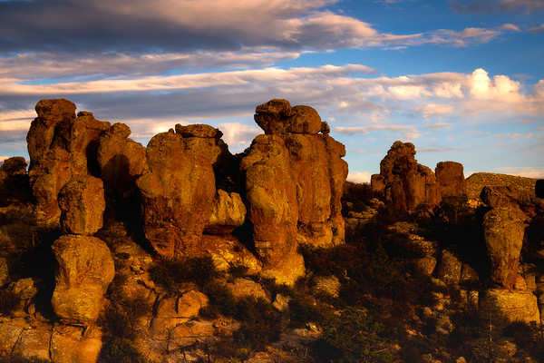 Red Statues Of Light - Chiricahua National Monument, Arizona