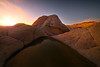 The Glow Of Light Disappearing Behind The Horizon - White Pockets, Vermillion Cliffs National Monument, Arizona