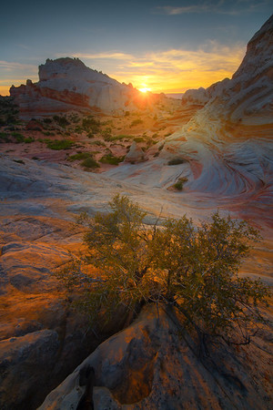 Sunset Glow Over The Red Rocks - White Pockets, Vermillion Cliffs National Monument, Arizona