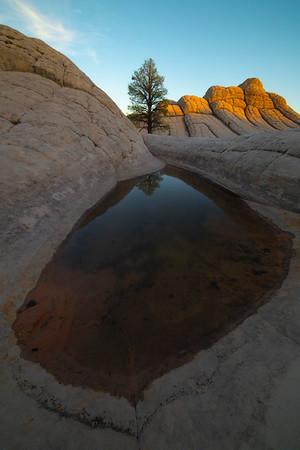 Last Light Boucing Off Surrounding Rocks - White Pockets, Vermillion Cliffs National Monument, Arizona