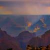 Monsoon Rain Over The Grand Canyon