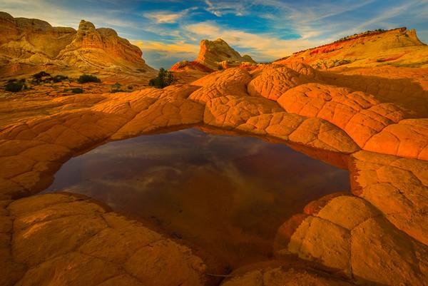 The Octagon Pond White Pockets, Vermillion Cliffs, AZ