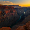 Looking Into The Sunset From Torroweap - Torroweap Viewpoint, Grand Canyon National Park, AZ