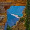 Hole In Rock Wall Showing Colorado River - North Rim, Grand Canyon National Park, AZ
