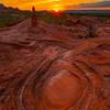 Sunstar On White Pocket Circles White Pockets, Vermillion Cliffs, AZ