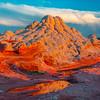 The Volcano Like Peak White Pockets, Vermillion Cliffs, AZ