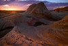Endulating Curves Of Last Light At White Pockets - White Pockets, Vermillion Cliffs National Monument, Arizona