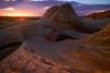Endulating Curves Of Last Light At White Pockets - White Pockets, Vermillion Cliffs National Monument, Arizona