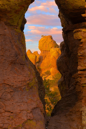 Looking From Within At The Last Light - Chiricahua National Monument, Arizona