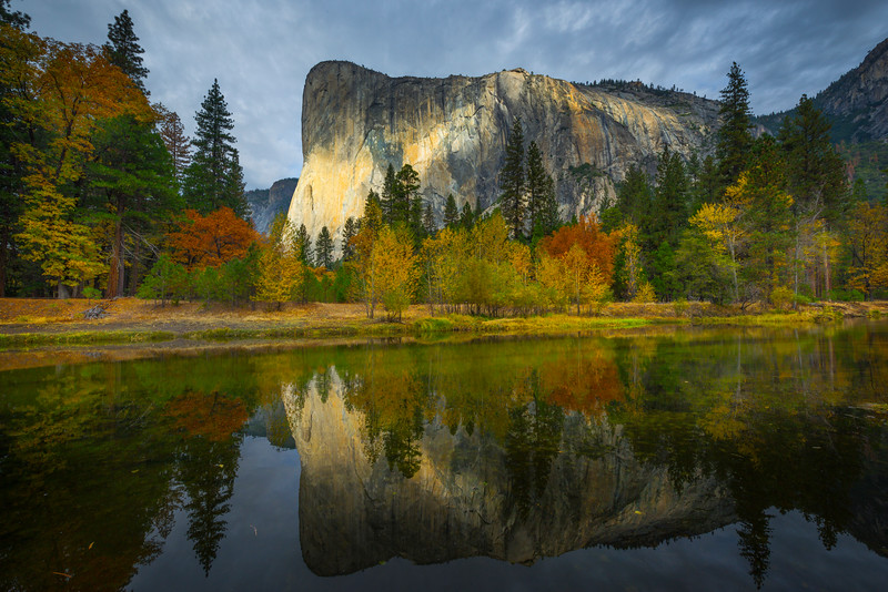 El Captain Reflection From Tahiti Beach - Yosemite National Park, Eastern Sierras, California