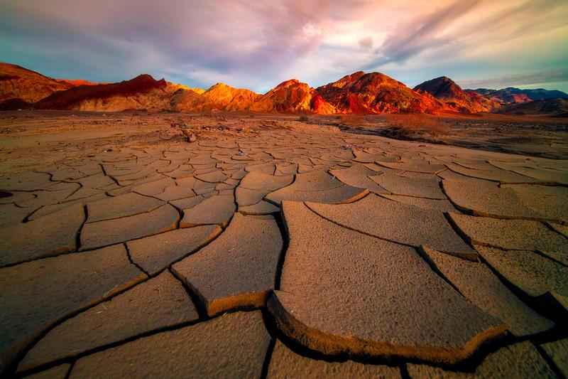 Mud Cracks As Far As Eye Can See - Death Valley National Park, California