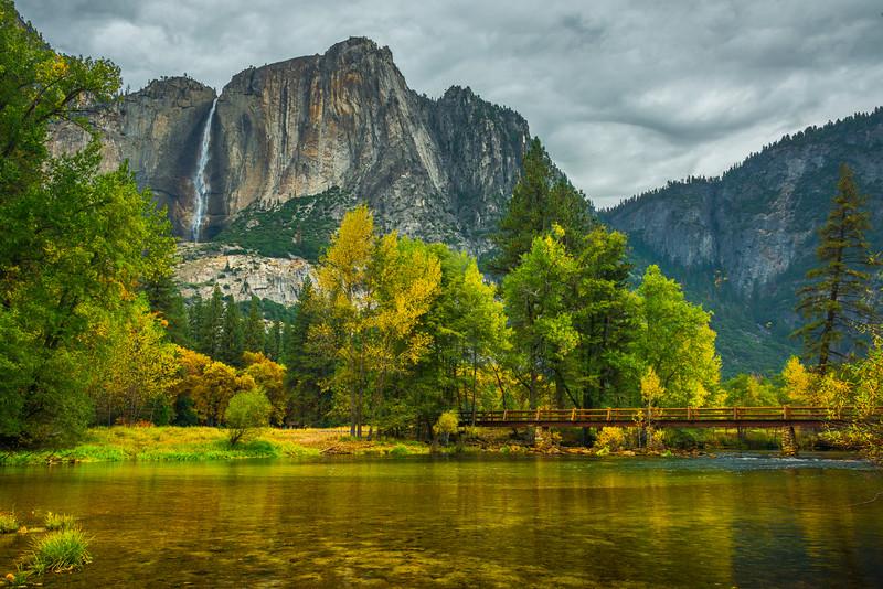 The Chapel Bridge And Upper Yosemite - Yosemite National Park, Eastern Sierras, California